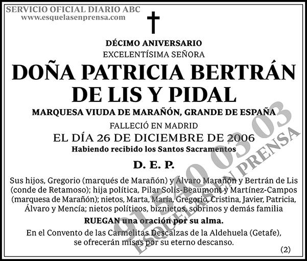 Patricia Beltrán de Lis y Pidal